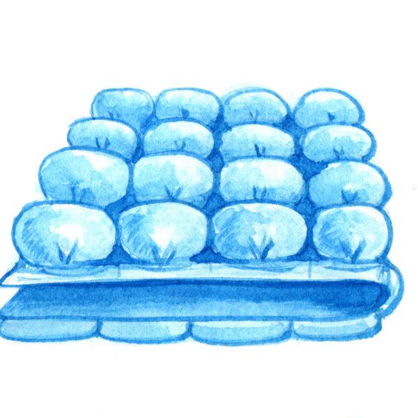 Одеяло бонбон (бомбон) - фото