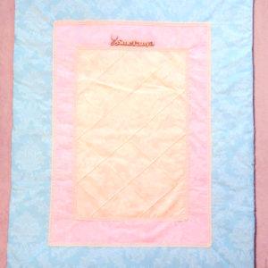 Плед для новорожденного с подушечкой розово-голубой - фото