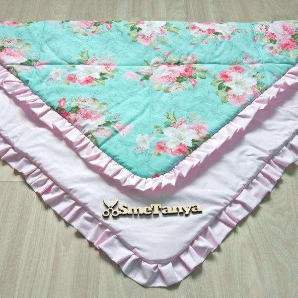 Плед-одеяло с пионами - фото